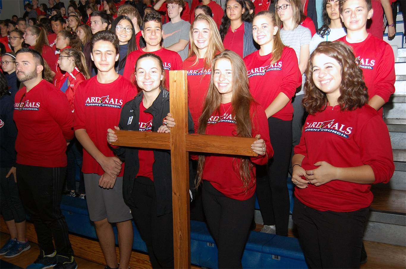 Students from Cardinal Newman Catholic Secondary School attend a Eucharistic Celebration at Cathedral High School on Oct. 15. Close to 3,000 students and staff take part in the annual
