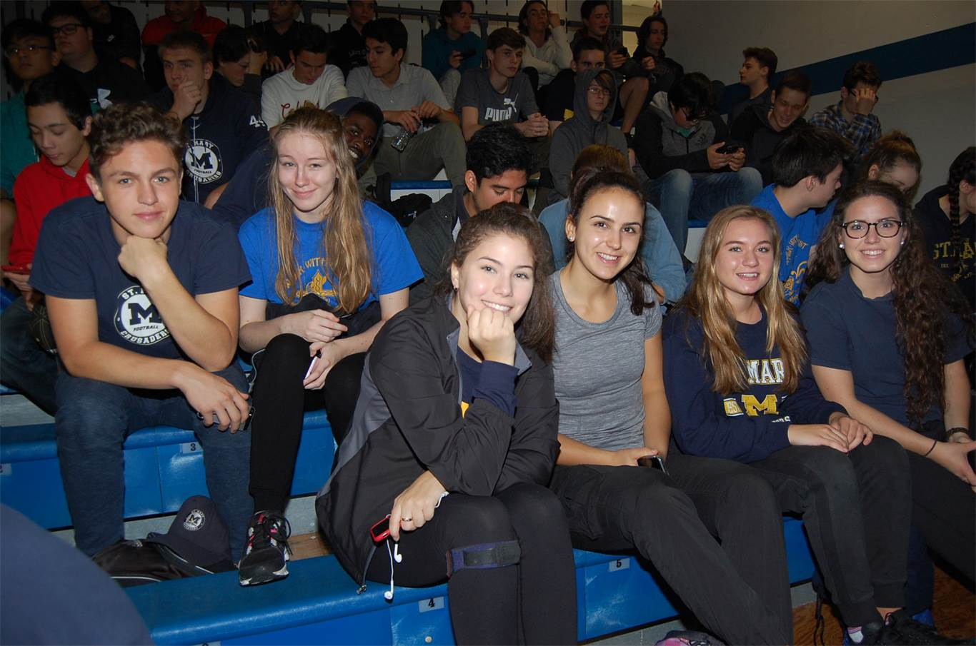 Students from St. Mary Catholic Secondary School attend a Eucharistic Celebration at Cathedral High School on Oct. 15. Close to 3,000 students and staff take part in the annual
