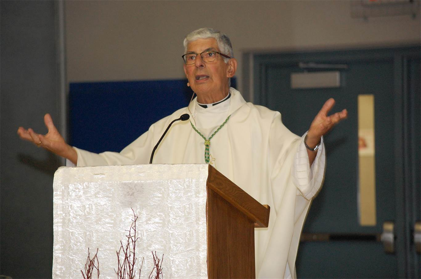 Likening the pilgrimage to the day's reading in which people are invited to a wedding, presiding mass celebrant, Bishop Tonnos told students,